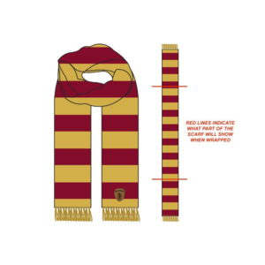 BUY HARRY POTTER GRYFFINDOR ACRYLIC STRIPE CUFF SCARF IN WHOLESALE ONLINE