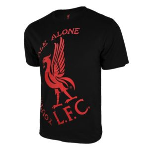 BUY LIVERPOOL BLACK YOUTH POLY COTTON T-SHIRT IN WHOLESALE ONLINE