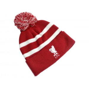 BUY LIVERPOOL RED & WHITE POM BEANIE IN WHOLESALE ONLINE