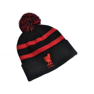 BUY LIVERPOOL BLACK & RED POM BEANIE IN WHOLESALE ONLINE