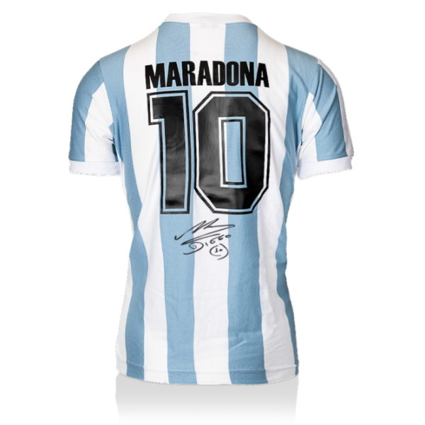 BUY AUTHENTIC SIGNED DIEGO MARADONA ARGENTINA 1986 JERSEY IN WHOLESALE ONLINE