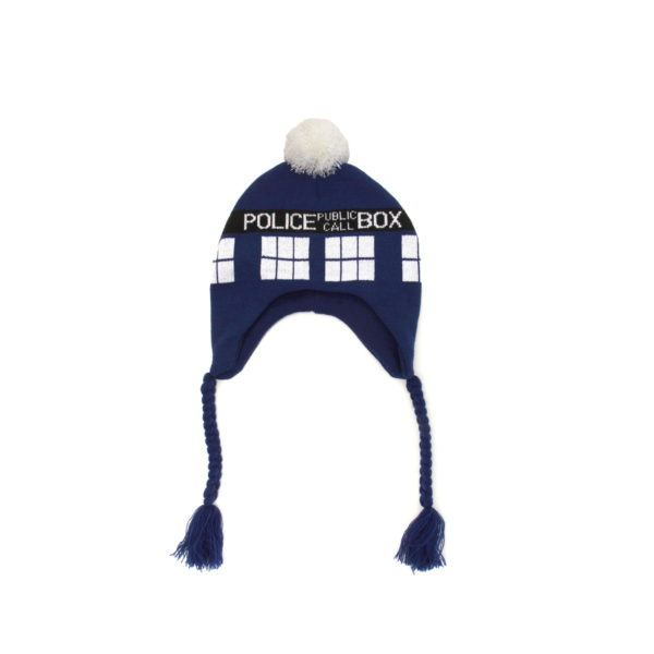 BUY DOCTOR WHO TARDIS KNIT LAPLANDER HAT IN WHOLESALE ONLINE