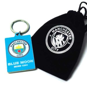 BUY MANCHESTER CITY KEYCHAIN VELVET GIFT BAG IN WHOLESALE ONLINE
