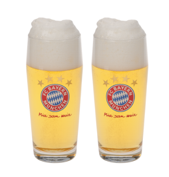 BUY BAYERN MUNICH PINT GLASS SET IN WHOLESALE ONLINE