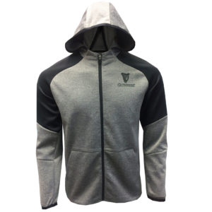 BUY GUINNESS BLACK & GRAY FULL ZIP PERFORMANCE HOODIE (UNI-SEX) IN WHOLESALE ONLINE