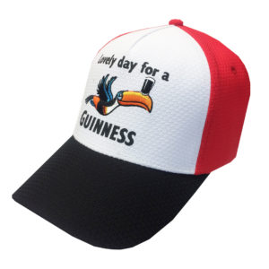 BUY GUINNESS RED & WHITE TOUCAN BASEBALL HAT IN WHOLESALE ONLINE!