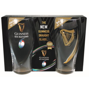 BUY GUINNESS SIX NATIONS PINT GLASS PACK IN WHOLESALE ONLINE