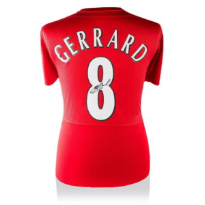 BUY STEVEN GERRARD SIGNED LIVERPOOL ISTANBUL 2005 CHAMPIONS LEAGUE FINAL SHIRT IN WHOLESALE ONLINE