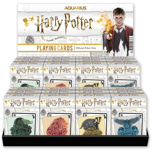 BUY HARRY POTTER HOUSE PLAYING CARDS DISPLAY IN WHOLESALE ONLINE