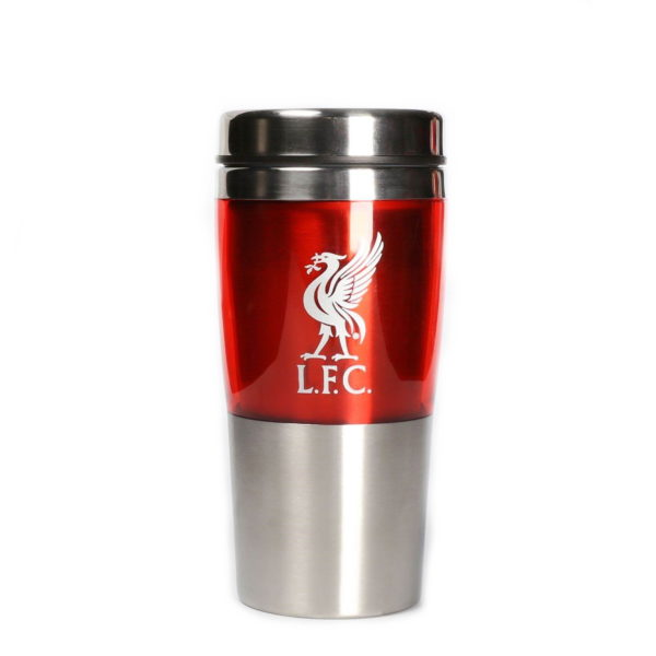BUY LIVERPOOL RED STAINLESS STEEL TRAVEL MUG IN WHOLESALE ONLINE