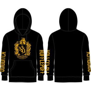 BUY HARRY POTTER BLACK HUFFLEPUFF HOODIE IN WHOLESALE ONLINE