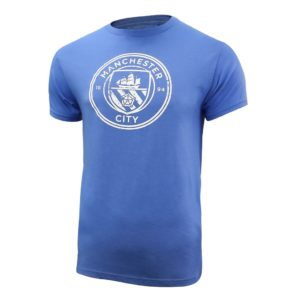 BUY MANCHESTER CITY VINTAGE DISTRESSED LOGO T-SHIRT IN WHOLESALE ONLINE