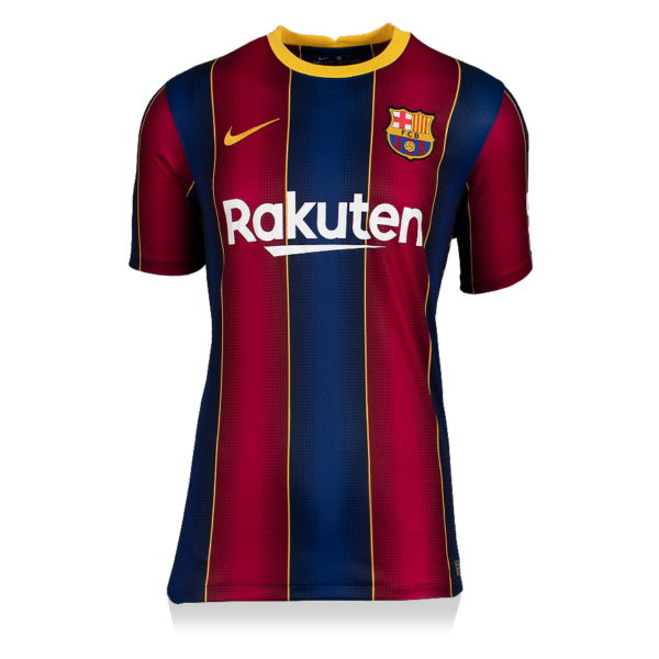 BUY LIONEL MESSI AUTHENTIC SIGNED 2020-21 BARCELONA JERSEY IN WHOLESALE ONLINE