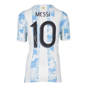 BUY LIONEL MESSI AUTHENTIC SIGNED 2020-22 ARGENTINA JERSEY IN WHOLESALE ONLINE